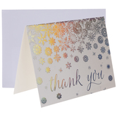Iridescent Snowflakes Thank You Cards