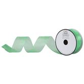 "Emerald Organza Ribbon - 1 1/2"""