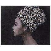 Leopard Print Woman Canvas Wall Decor
