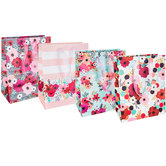 Floral & Striped Gift Bags