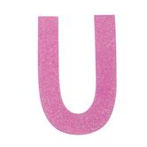 "Glitter Wood Letter U - 4"""