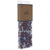 Red, White & Blue Glass Pearl Bead Mix
