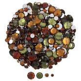 Green, Orange & Brown Rhinestones