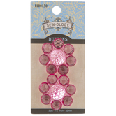 Pink Flower Shank Buttons - 32mm