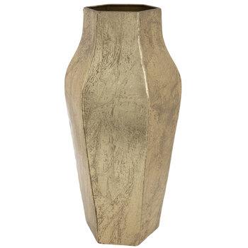 Gold Patina Metal Vase