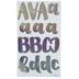 Holographic Sparkle Handwritten Alphabet Stickers