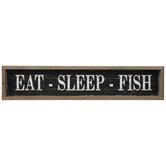 Eat, Sleep & Fish Wood Wall Decor