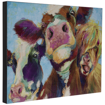 Painted Cows Wood Wall Decor