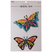 Multi-Color Butterflies Iron-On Appliques