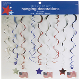 American Flag & Star Swirled Hanging Decorations