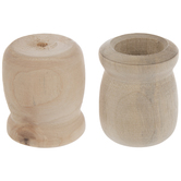 Wood Candle Cups