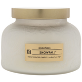 Frosted White Snowfall Jar Candle