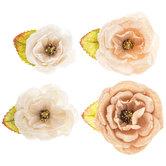 Beige Petra Prima Flower Embellishments
