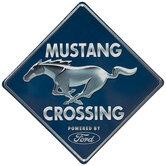 Mustang Crossing Metal Sign