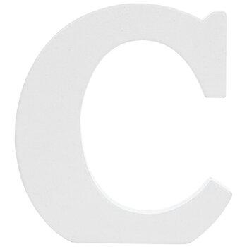 """White Wood Letter C - 3"""""""