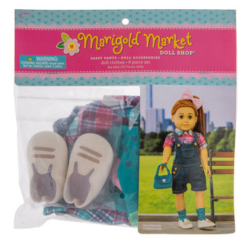 Sassy Pants Overalls Doll Outfit