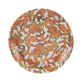 Orange & Green Leaves Paper Plates - Small