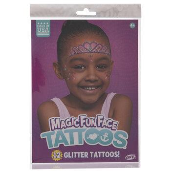Tiara Glitter Temporary Face Tattoos
