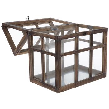 Distressed Wood House Terrarium