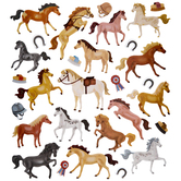 Horse Glitter Stickers
