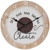 Yarn Create Wood Wall Clock