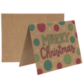 Merry Christmas Polka Dot Kraft Cards & Envelopes