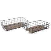 Black Wire Basket Set
