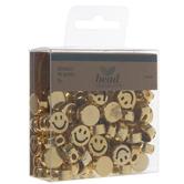 Metallic Gold Smile Beads