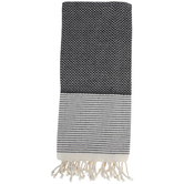 Diamond Fringed Cotton Towel