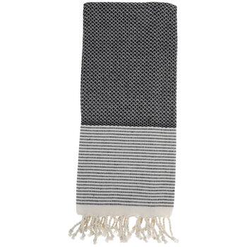 Diamond Fringed Cotton Towel