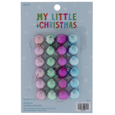 Pink, Green & Blue Round Mini Ornaments