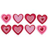 Valentine Heart Felt Stickers