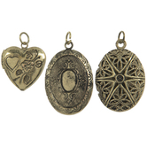 Assorted Engraved Mini Locket Charms