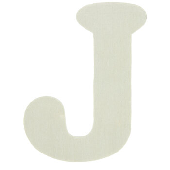 "Wood Letters J - 4"""