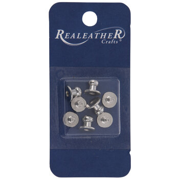 Silver Button Studs & Posts