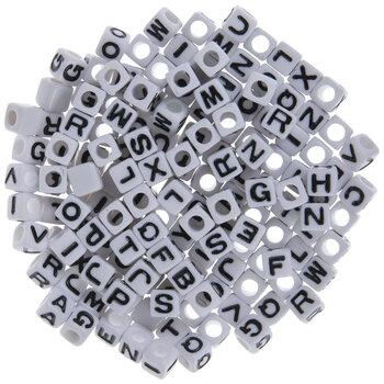 Black & White Alphabet Beads