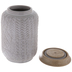 Gray Geometric Mosaic Canister - Large
