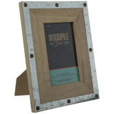 """Wood Frame With Rivets - 4"""" x 6"""""""