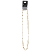 Smooth Paperclip Chain Necklace