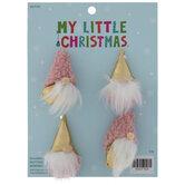Mini Pink & Gold Gnome Ornaments