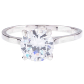 Imitation Diamond Solitaire Ring