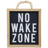No Wake Zone Wood Wall Decor