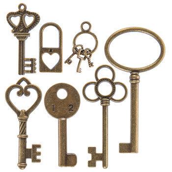 Antique Gold Key Charm Embellishments