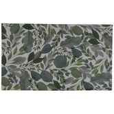 Green Assorted Leaves Doormat