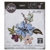 Sizzix Thinlits Brushstroke Flowers Dies