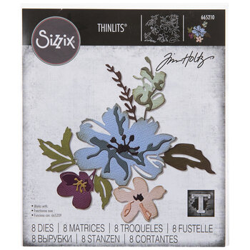Sizzix Thinlits Brushstroke Flowers Dies