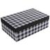 Black & White Buffalo Check Gift Box - 7 1/4