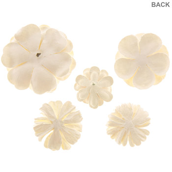 Cream Paper Flower & Pick Embellishments