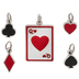Queen Of Hearts Charms
