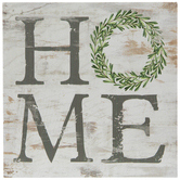 Distressed Wreath Home Wood Decor